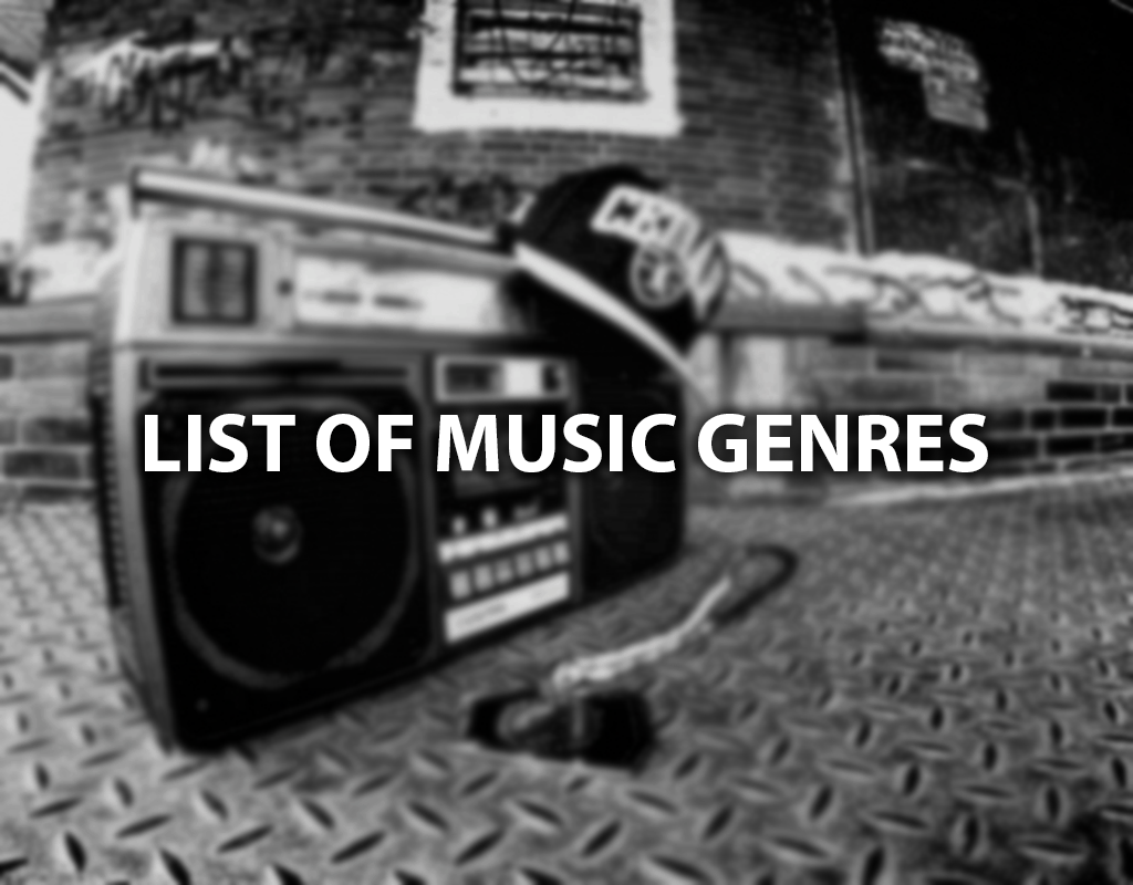 list of music genres