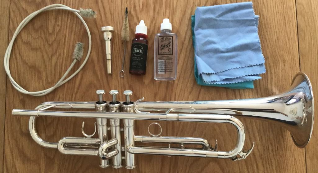 how to clean a  trumpet at home