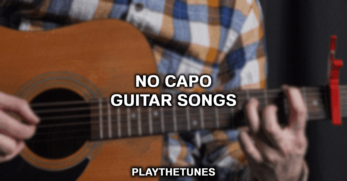 beginner guitar songs no capo