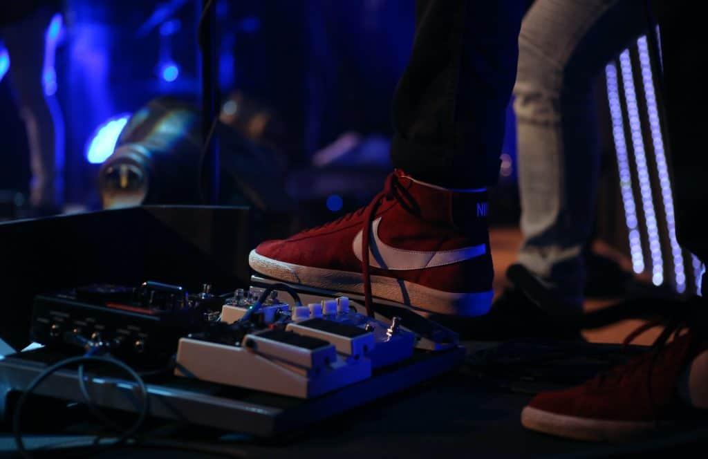 A DJ utilizing Pedal effects