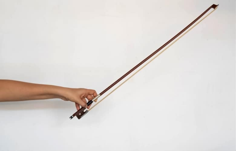Holding a violin bow