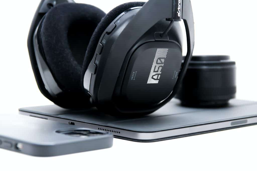 The Astro A50 perched atop an iPad