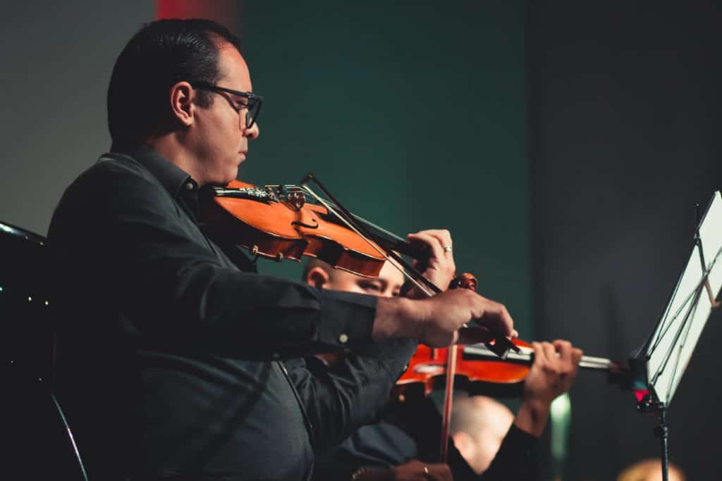 playing a violin requires undivided focus